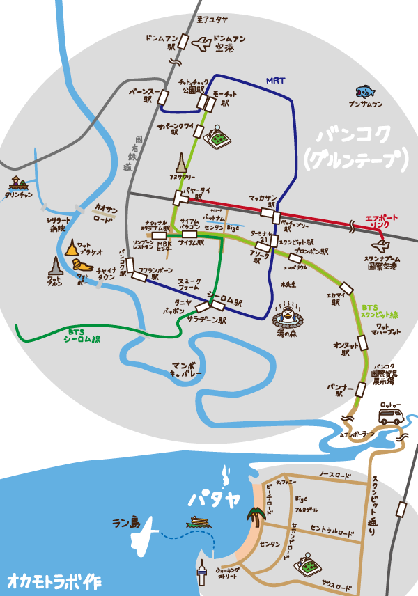 bangkok_pattaya_map